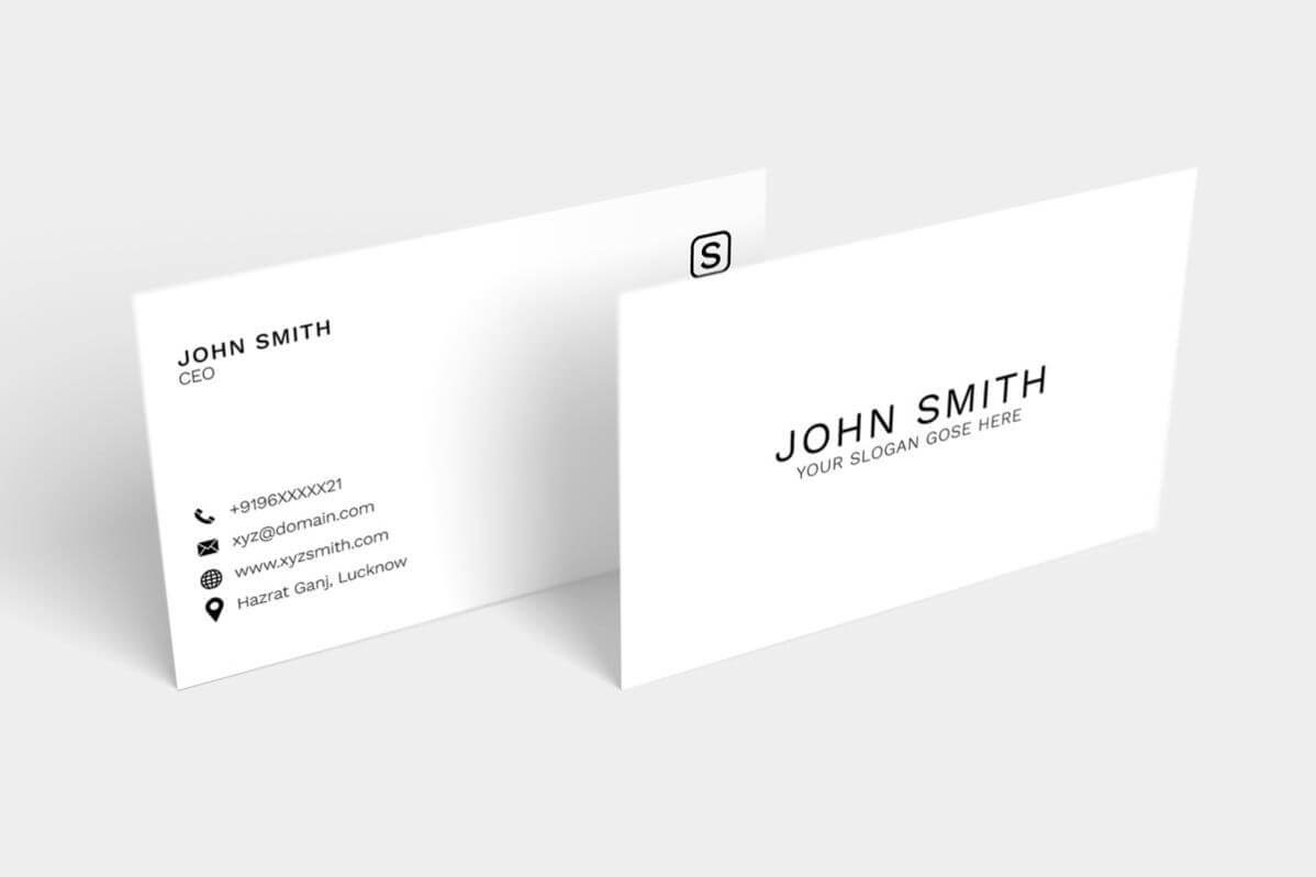 Free Simple Minimal Business Card | Free Business Card In Google Search Business Card Template