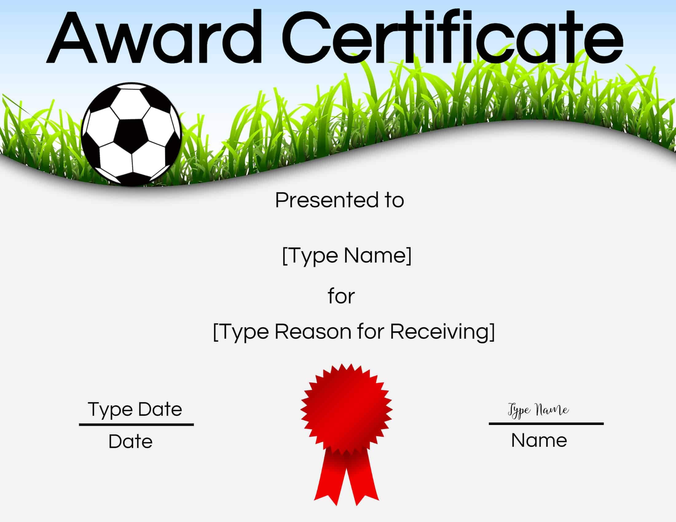 Free Soccer Certificate Maker   Edit Online And Print At Home inside Soccer Certificate Templates For Word