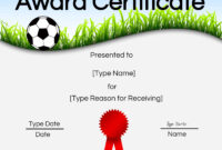 Free Soccer Certificate Maker | Edit Online And Print At Home regarding Soccer Award Certificate Template