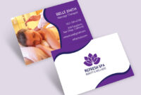 Free Spa Center Business Card Template – Pachathemes With Regard To Massage Therapy Business Card Templates
