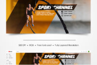 Free Sport Youtube Channel Banner | Free Psd Templates regarding Sports Banner Templates