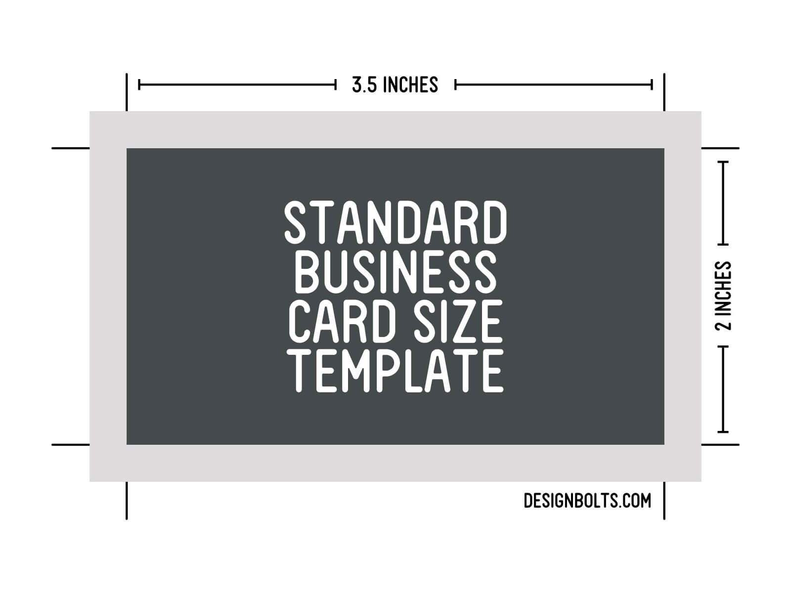 Free Standard Business Card Size, Letterhead & Envelop Sizes in Business Card Size Template Photoshop