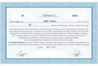 Free Stock Certificate Online Generator pertaining to Corporate Share Certificate Template