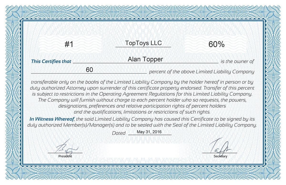 Free Stock Certificate Online Generator regarding Free Stock Certificate Template Download