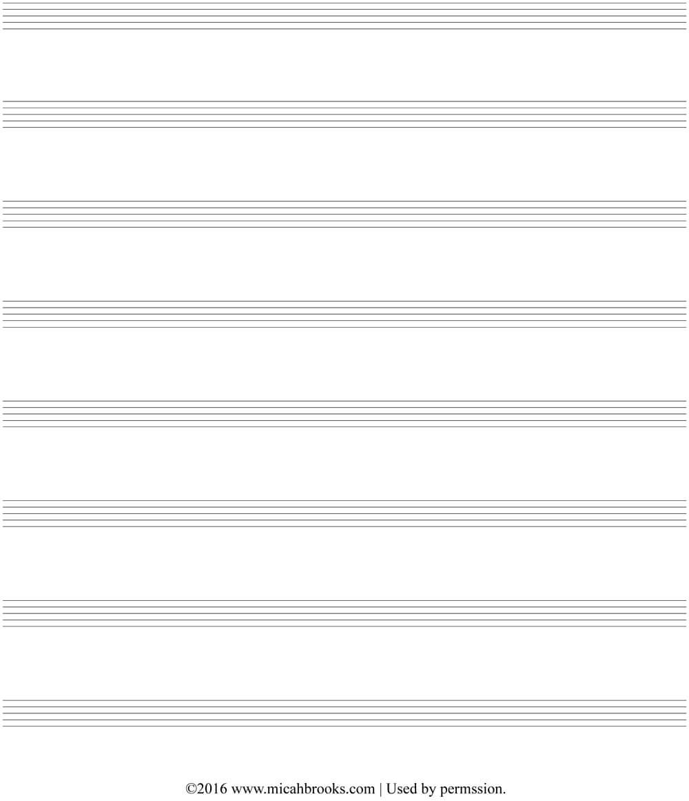 Free Stuff From Worship Publishing - Our Gift To You for Blank Sheet Music Template For Word