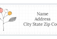 Free Stylish Address Label Templates For Free Label Templates For Word