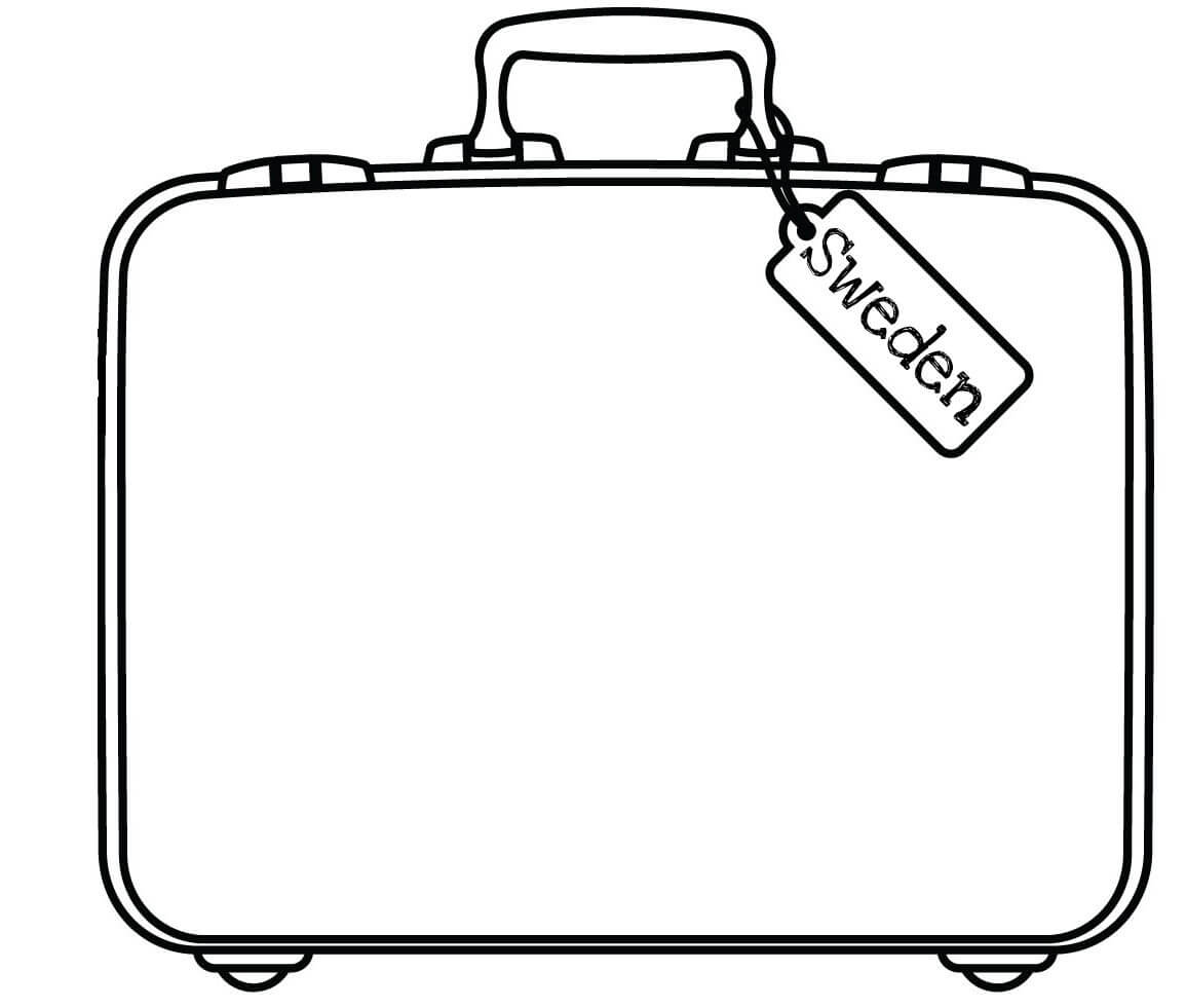 Free Suitcase Coloring Page, Download Free Clip Art, Free Throughout Blank Suitcase Template