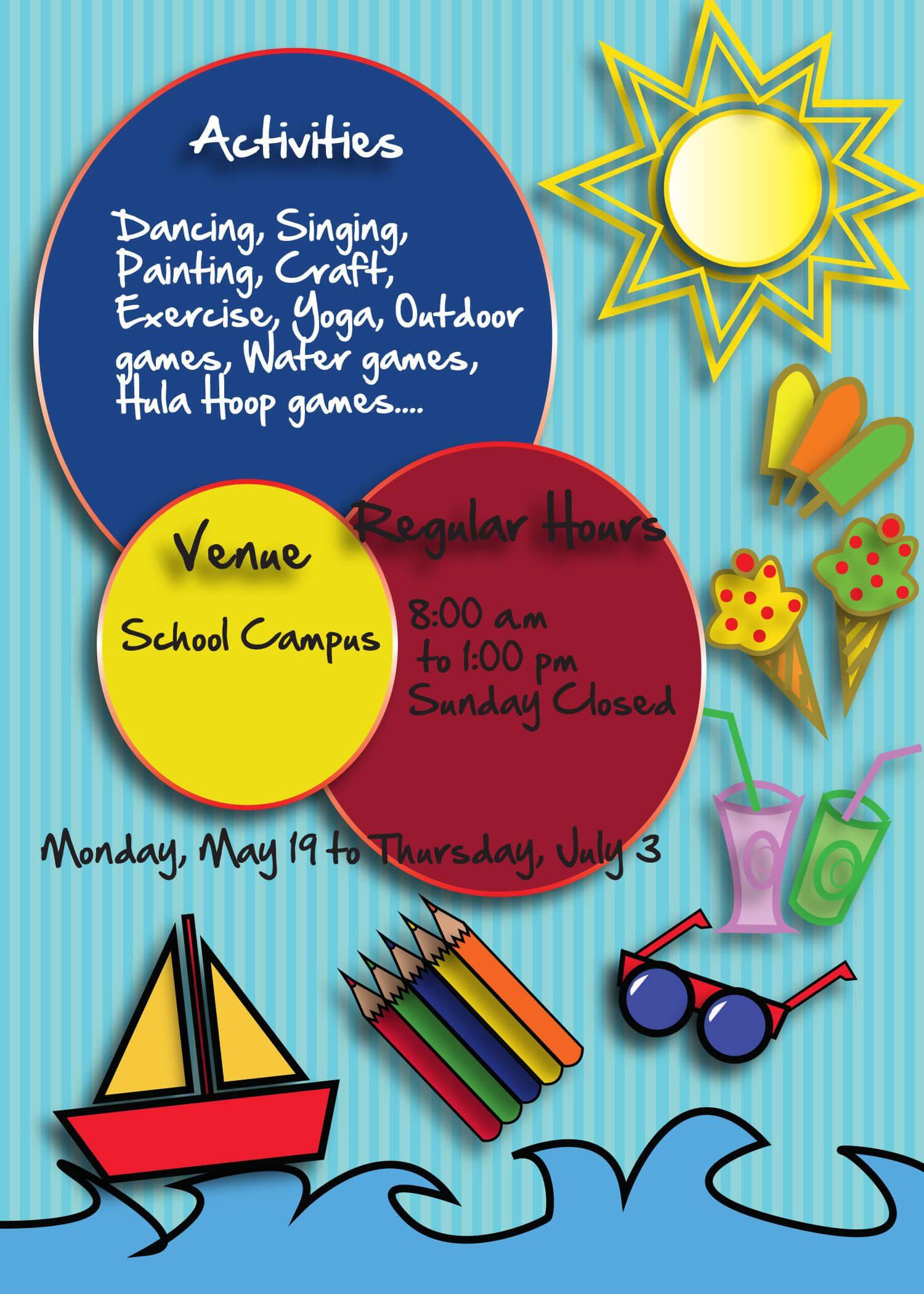 Free Summer Camp Flyer Back   Brochure Template, Brochure Within Summer Camp Brochure Template Free Download