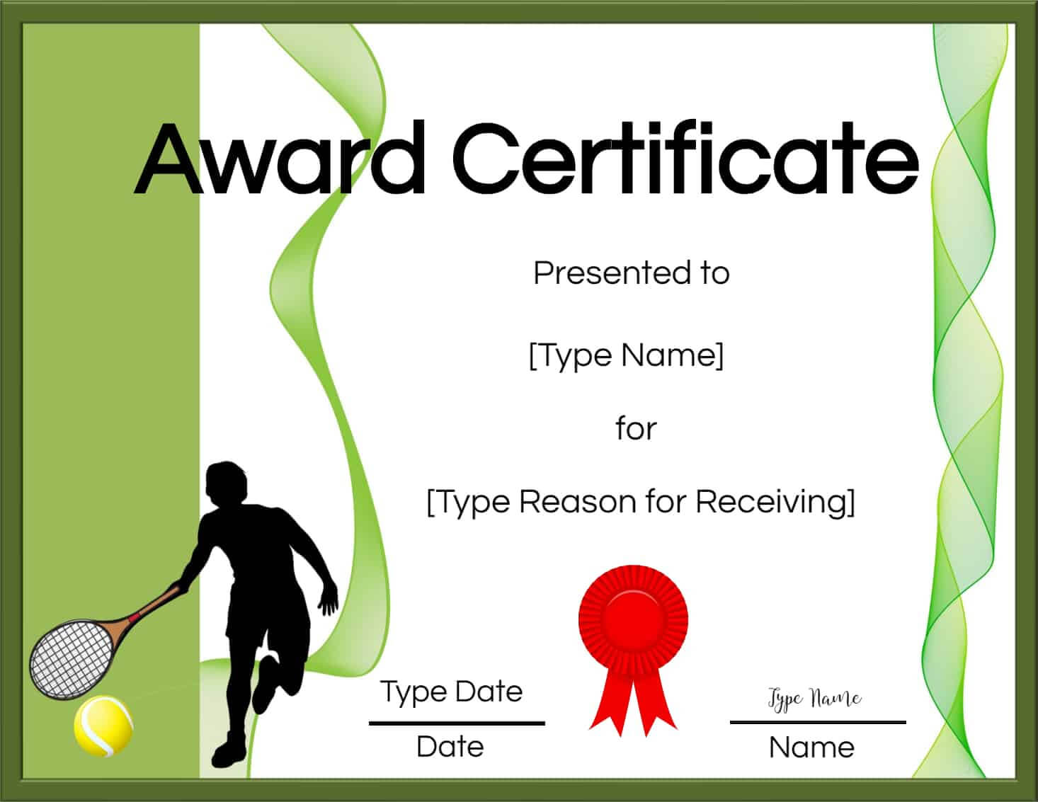 Free Tennis Certificate | Customize Online & Print For Tennis Certificate Template Free