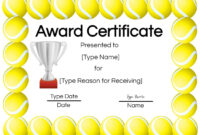 Free Tennis Certificate | Customize Online & Print Intended For Tennis Certificate Template Free