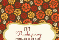 Free Thanksgiving Printables – Frugal Fanatic in Thanksgiving Place Cards Template