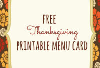 Free Thanksgiving Printables – Frugal Fanatic throughout Thanksgiving Place Cards Template