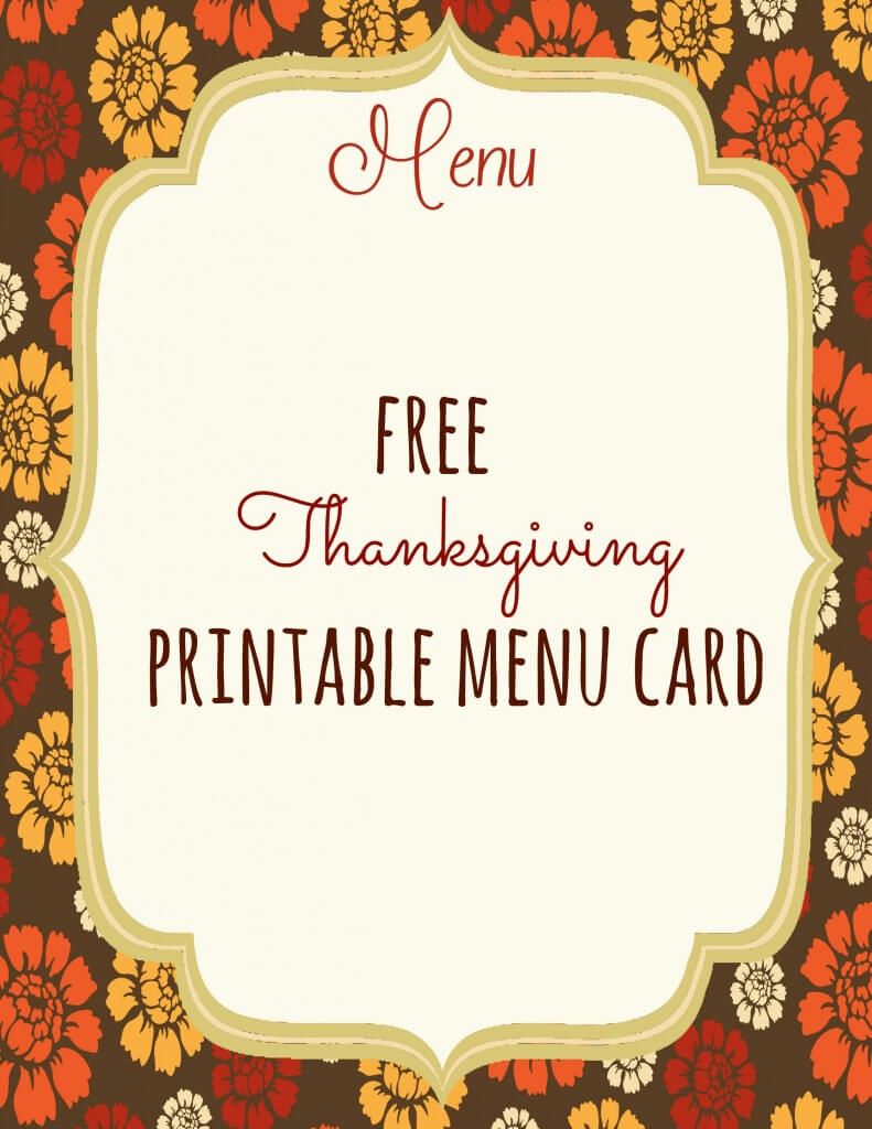 Free Thanksgiving Printables - Frugal Fanatic throughout Thanksgiving Place Cards Template