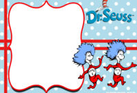 Free Thing 1 And Thing 2 Dr. Seuss Invitation Templates for Dr Seuss Birthday Card Template