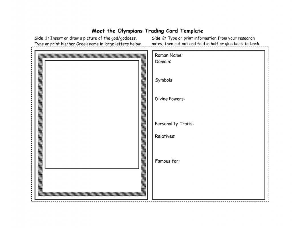 Free Trading Card Template | Template Business pertaining to Free Trading Card Template Download