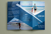 Free Travelling Trifold Brochure Template On Behance for Travel And Tourism Brochure Templates Free