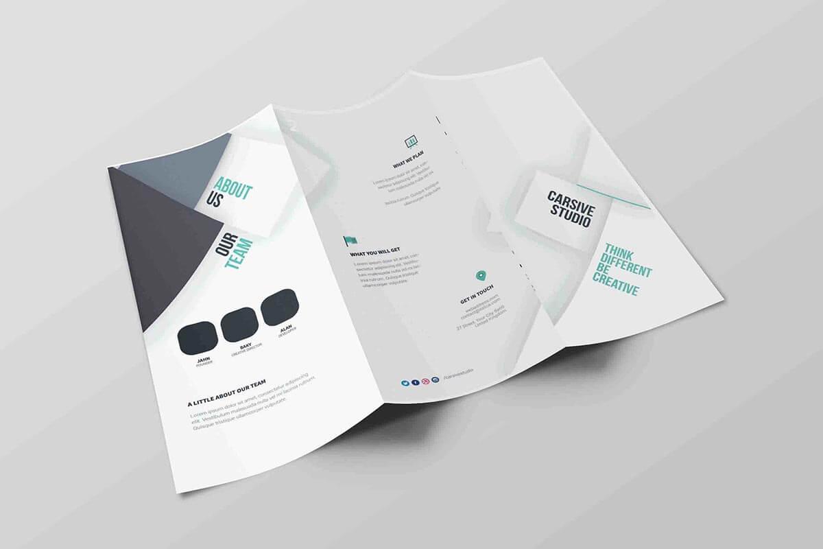 Free Tri-Fold Brochure Psd Template - Creativetacos intended for Brochure Psd Template 3 Fold