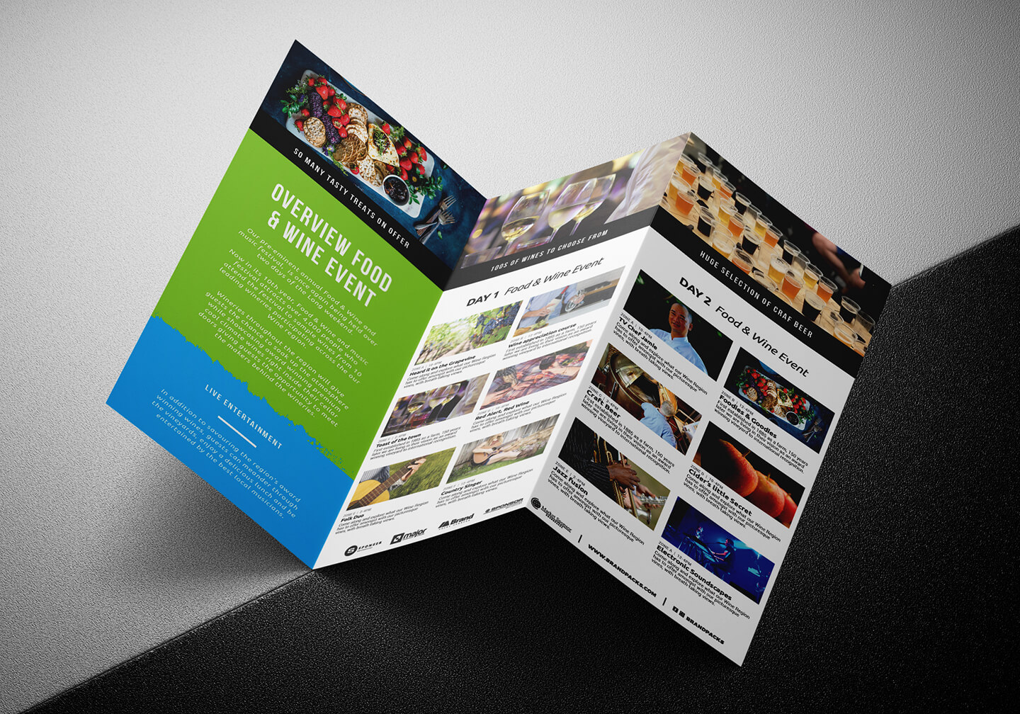 Free Tri Fold Brochure Template For Events & Festivals – Psd Inside Tri Fold Brochure Template Illustrator