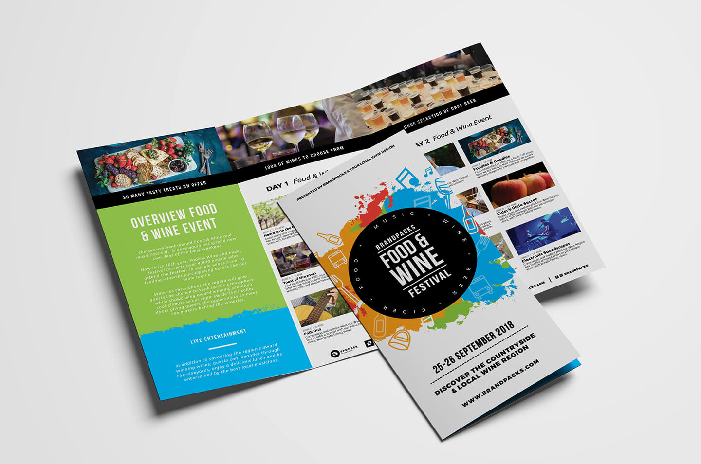 Free Tri Fold Brochure Template For Events & Festivals – Psd With Wine Brochure Template