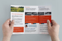 Free Trifold Brochure Template In Psd, Ai & Vector for 3 Fold Brochure Template Free