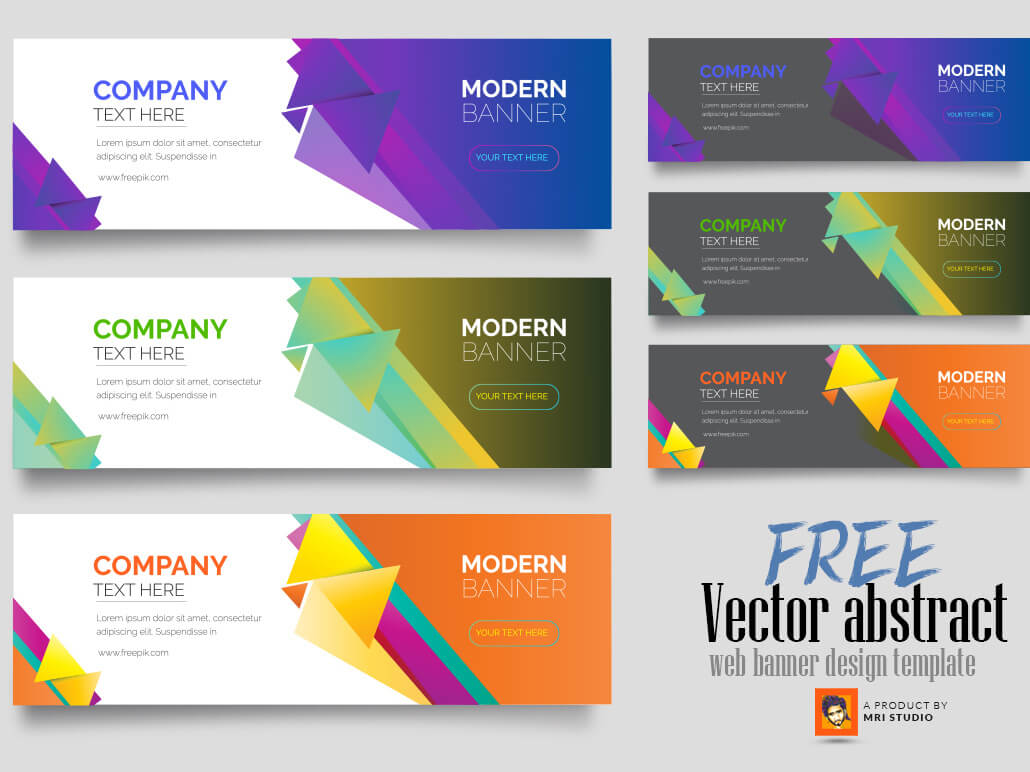 Free Vector Abstract Web Banner Design Templatemri With Website Banner Design Templates