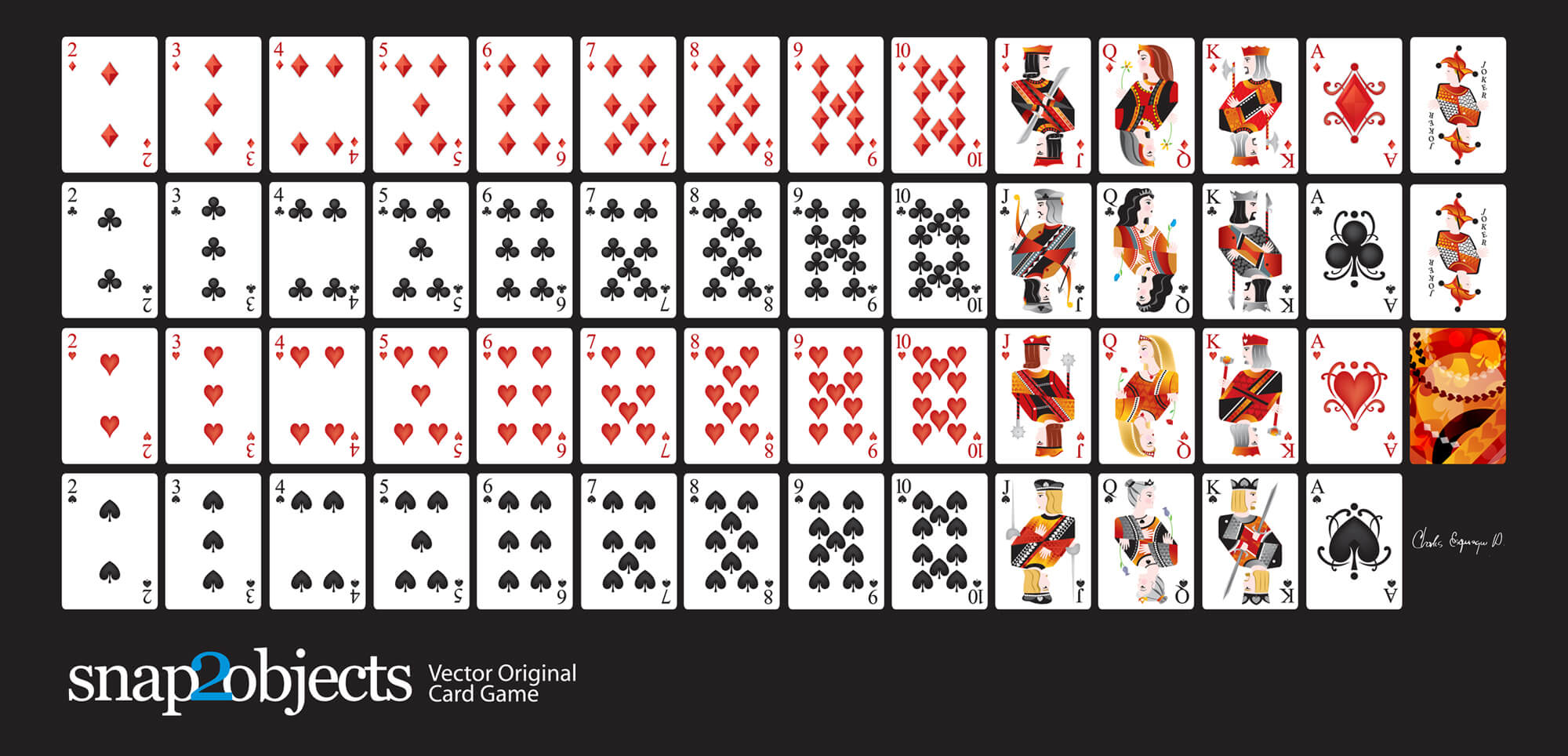 Free Vector Playing Cards Deck - for Free Printable Playing Cards Template