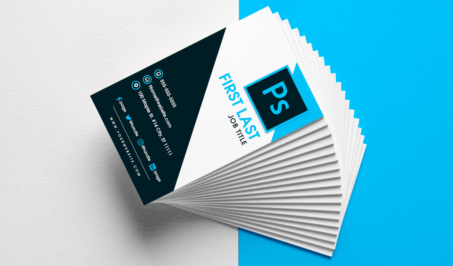 Free Vertical Business Card Template In Psd Format For Free Business Card Templates In Psd Format