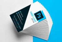 Free Vertical Business Card Template In Psd Format regarding Calling Card Template Psd