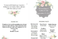 Free Wedding Program Templates You Can Customize within Free Printable Wedding Program Templates Word