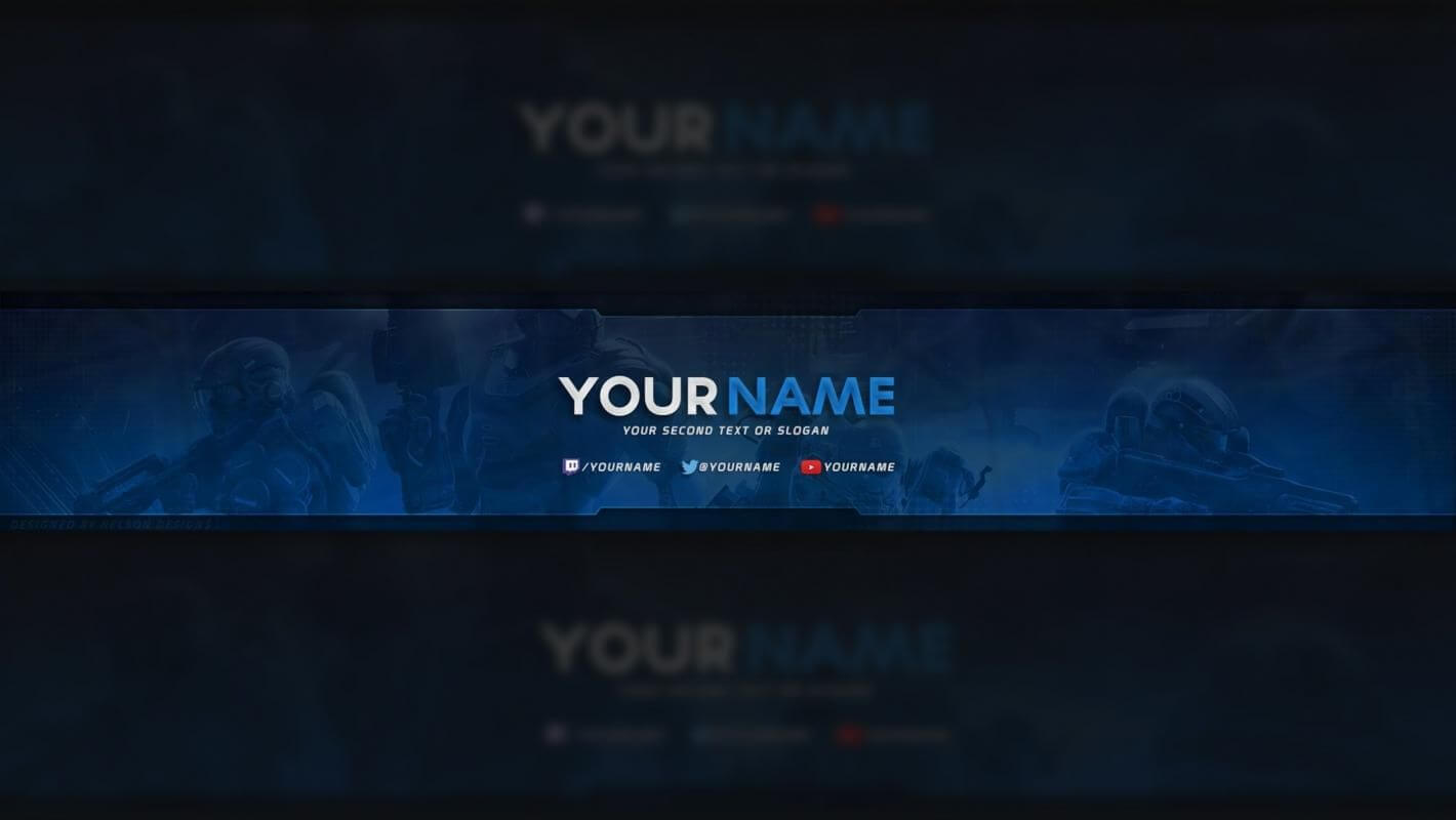 Free Youtube Banner In 2019 | Youtube Banner Template Throughout Youtube Banners Template