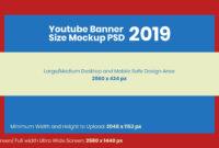 Free Youtube Banner Size Mockup 2019 & Design Template Psd for Youtube Banner Template Size
