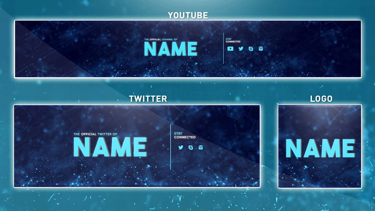 Free Youtube Banner Template | Photoshop (Banner + Logo + Twitter Psd) 2016 In Banner Template For Photoshop
