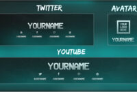 Free Youtube Banner + Twitter Header Template Psd + Direct Download Link –  [New 2015!] intended for Twitter Banner Template Psd