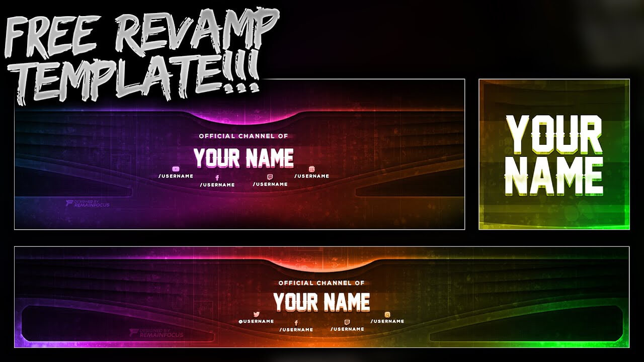Free Youtube Banner + Twitter Header Template Psd - Free Download - Free Gfx In Twitter Banner Template Psd