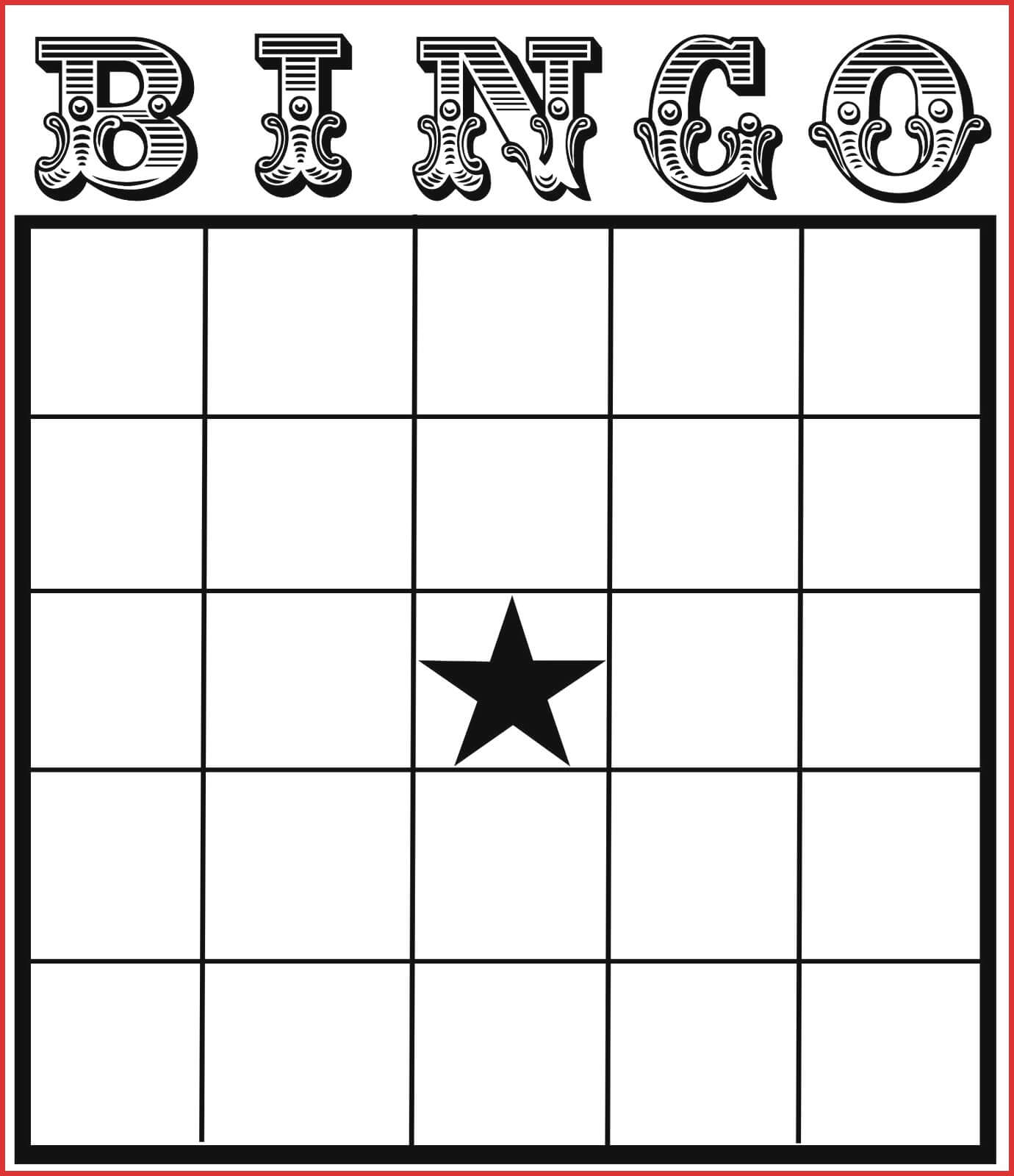 Fresh Blank Card Template | Leave Latter Intended For Blank Bingo Card Template Microsoft Word