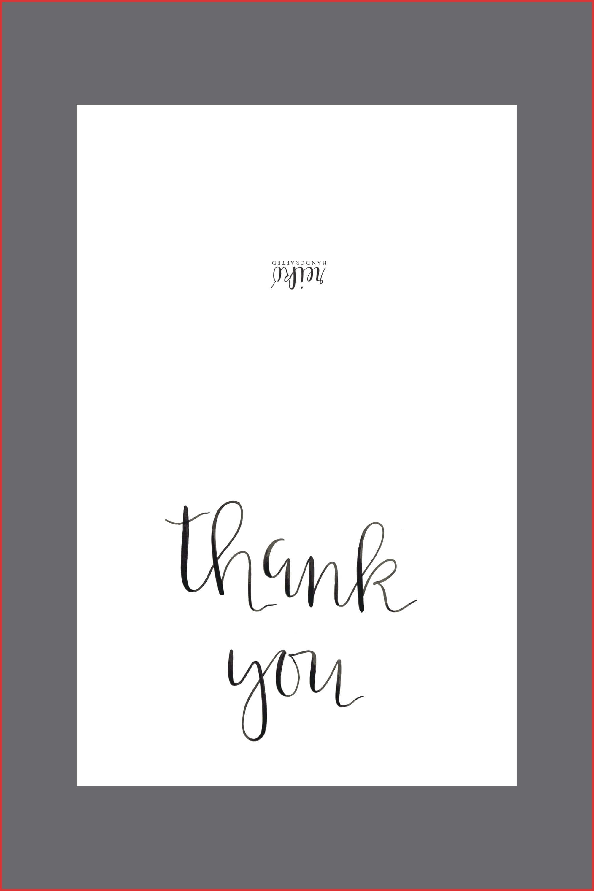 Fresh Thank You Template | Types Of Letter regarding Free Printable Thank You Card Template