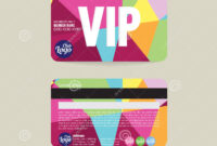 Front And Back Vip Member Card Template. Stock Vector with Membership Card Template Free