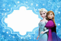 Frozen: Free Printable Cards Or Party Invitations. – Oh My in Frozen Birthday Card Template