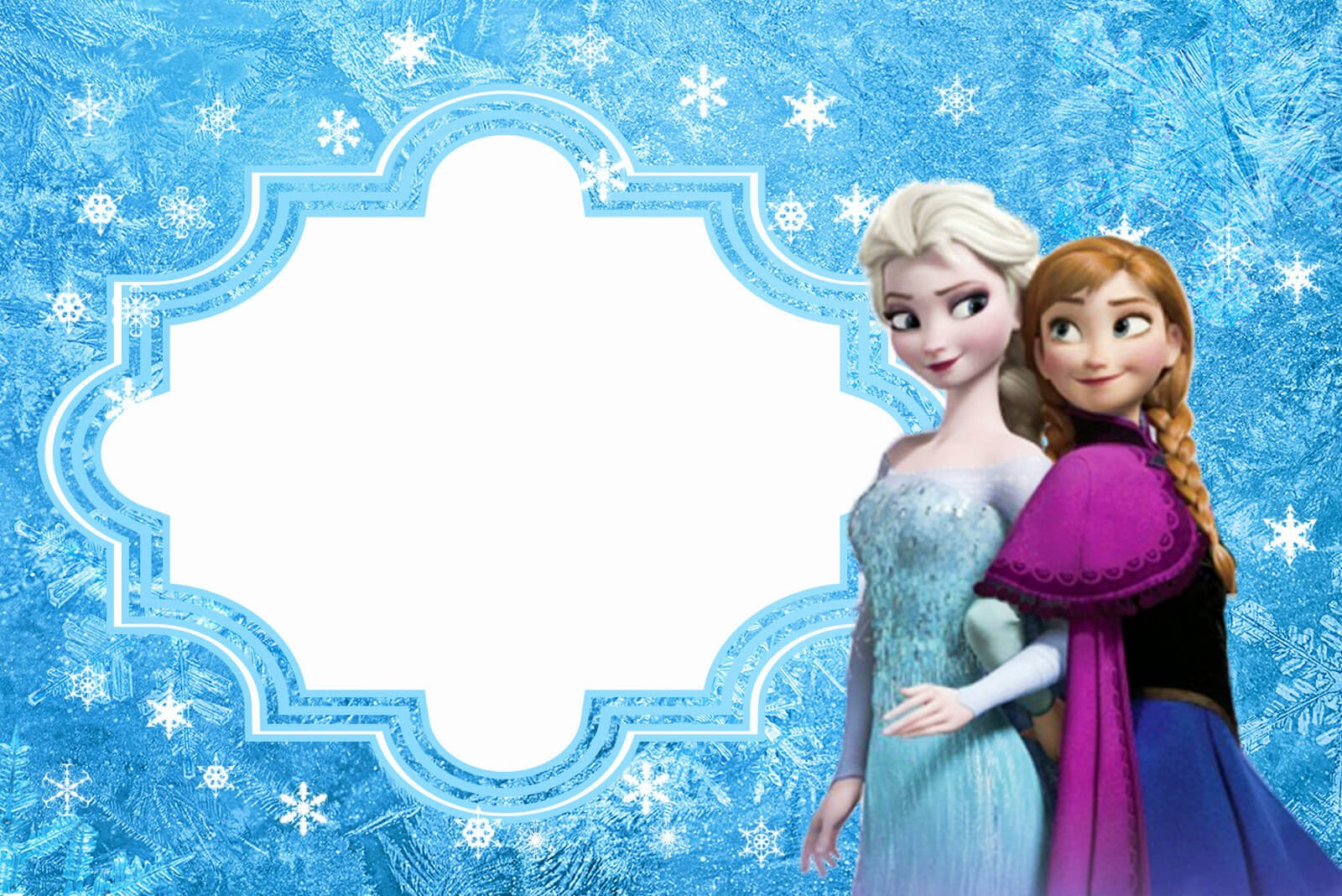 Frozen: Free Printable Cards Or Party Invitations. - Oh My in Frozen Birthday Card Template