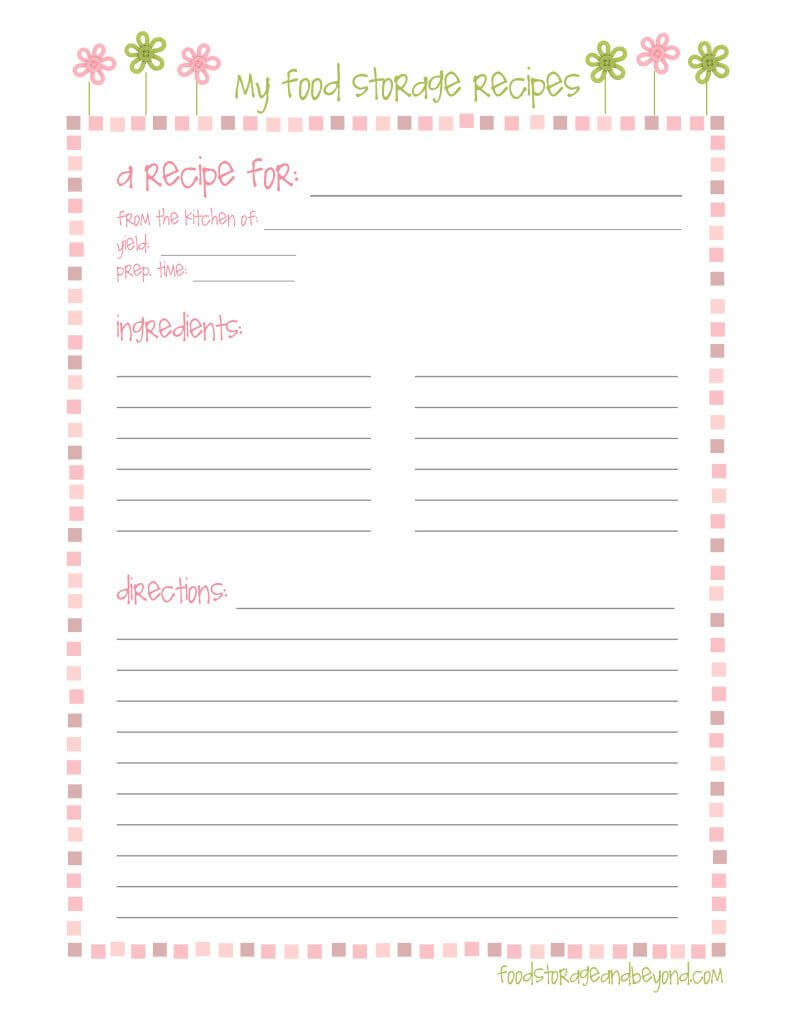 Fsb Full Page Recipe Card …   Make To Sell   Printable Within Full Page Recipe Template For Word