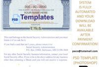 Fully Editable Ssn Usa Psd Template within Editable Social Security Card Template