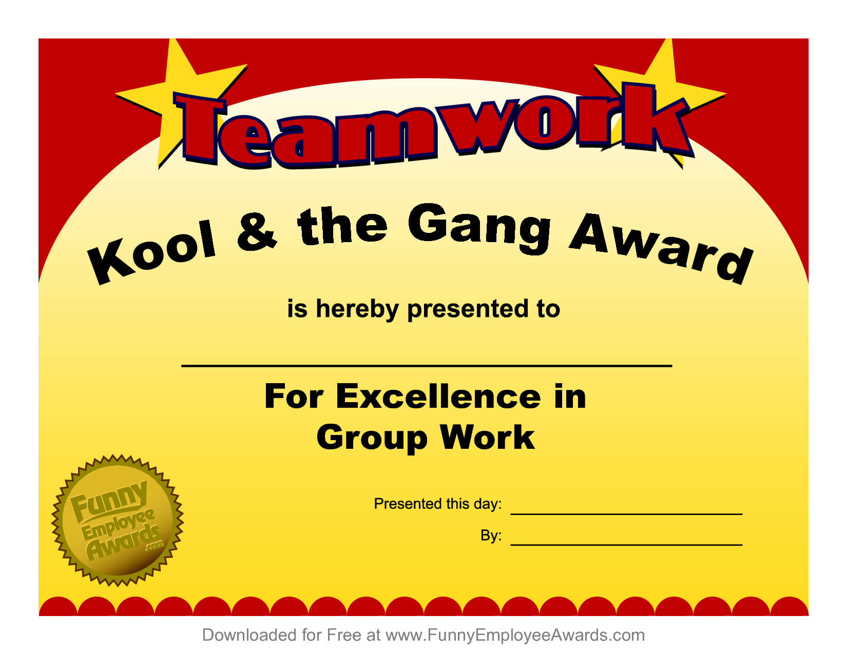 Fun Award Templatefree Employee Award Certificate Templates Inside Funny Certificates For Employees Templates