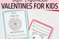 Fun Free Printable Valentine Cards For Kids (With Activities with Valentine Card Template For Kids