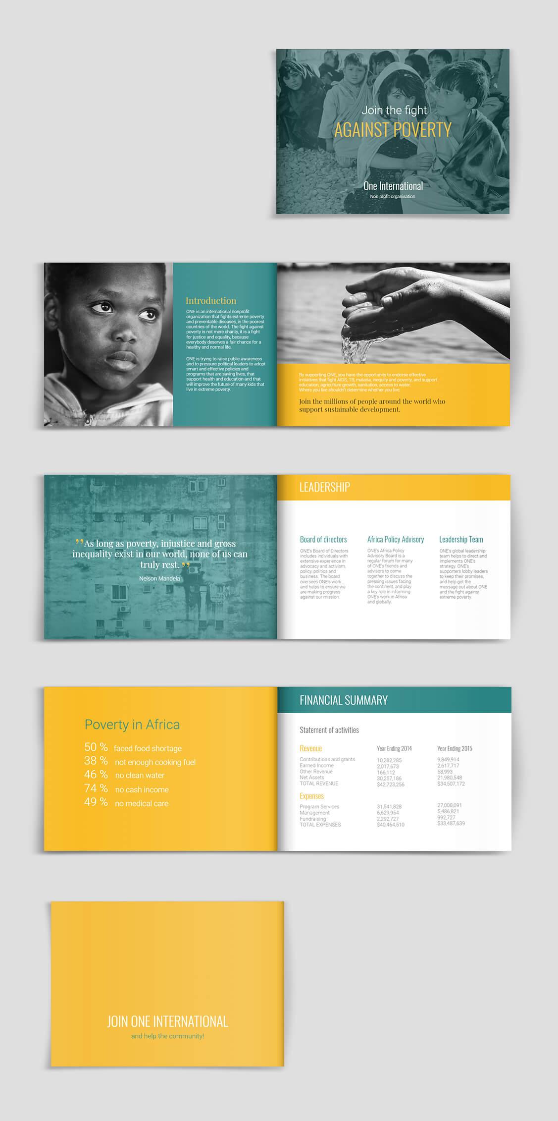 Fundraising & Charity Brochure Template   Brochure Templates inside Ngo Brochure Templates
