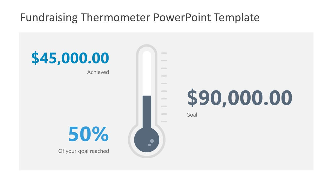 Fundraising Thermometer Powerpoint Template With Powerpoint Thermometer Template