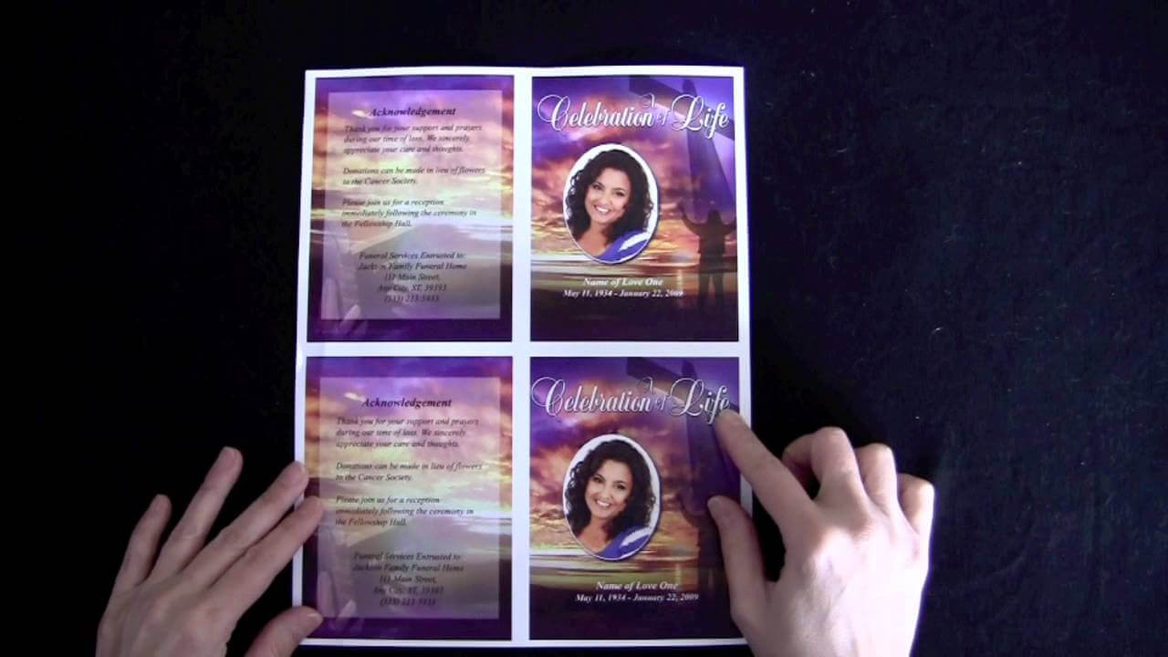 Funeral Memorial Cards With Regard To Memorial Cards For regarding Remembrance Cards Template Free