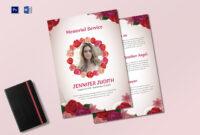 Funeral Memorial Service Program Template pertaining to Memorial Brochure Template