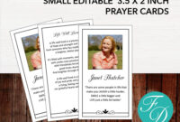 Funeral Prayer Card   Memorial Ideas   Funeral Ideas within Prayer Card Template For Word