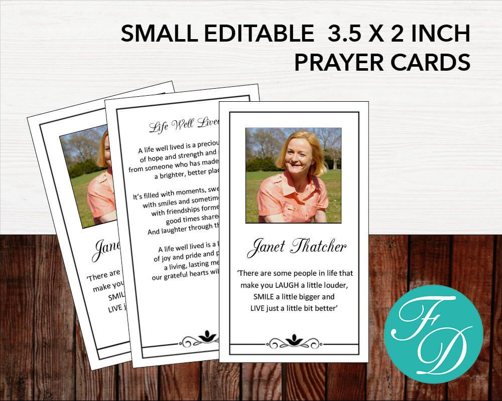 Funeral Prayer Card | Memorial Ideas | Funeral Ideas within Prayer Card Template For Word