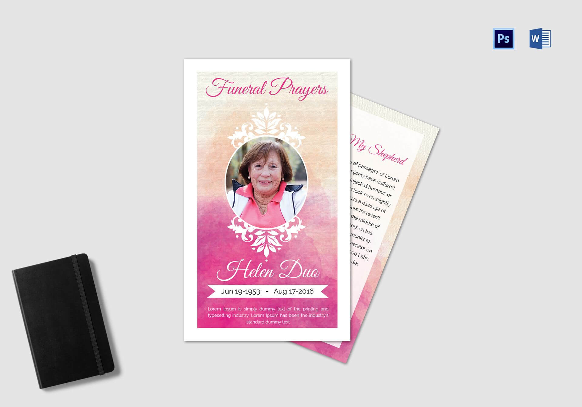 Funeral Prayer Card Template For Grandmother intended for Prayer Card Template For Word
